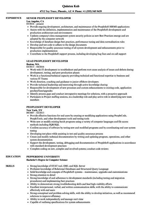 peoplesoft developer resume sles velvet