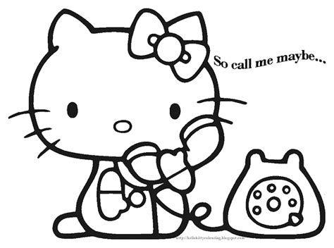 hello kitty cat coloring pages cute kitten coloring pictures colorings net