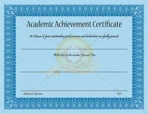 academic achievement certificate template certificate