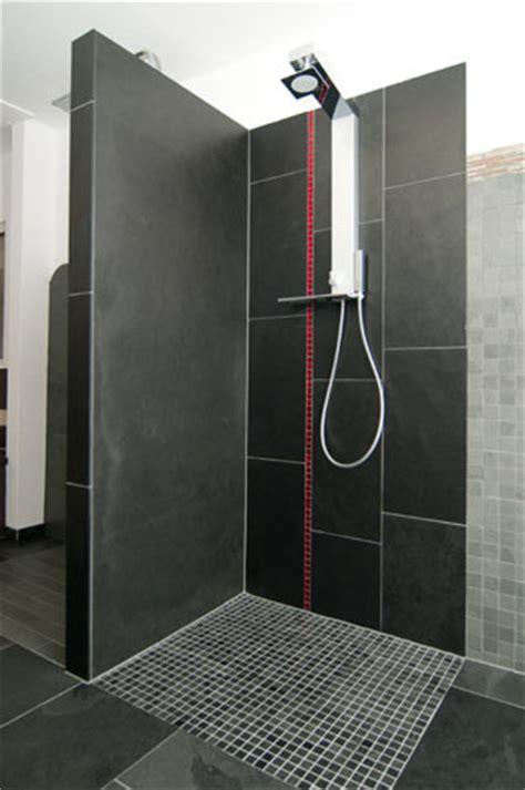 dusche schiefer badgestaltung backes schiefer naturstein