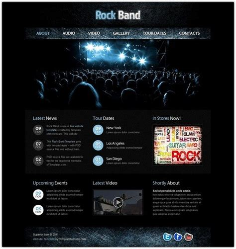 website templates free html5 with css3 jquery 10 free entertainment html5 css3 website templates