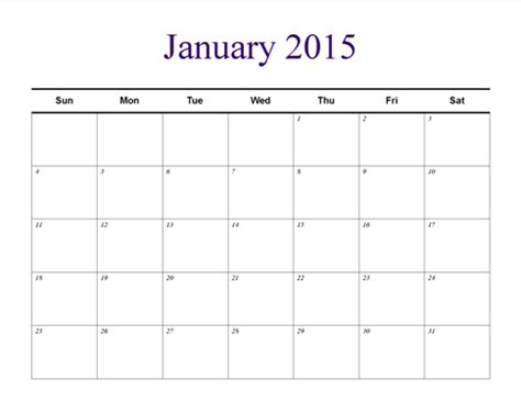 calendar publisher template understated theme monthly horizontal blank calendar template