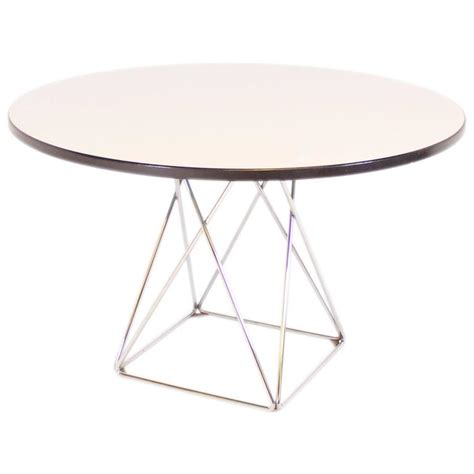 thonet formica and chrome dining table for sale at 1stdibs