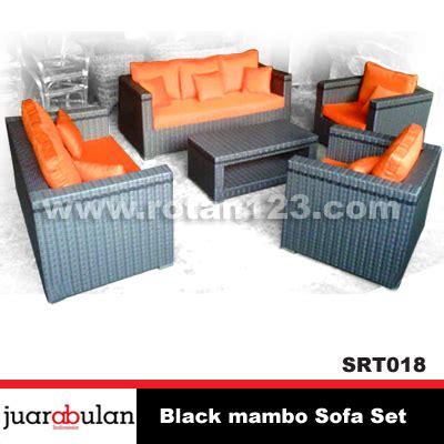 Jual Sofa Chandra Karya harga jual black mambo sofa set sofa rotan sintetis
