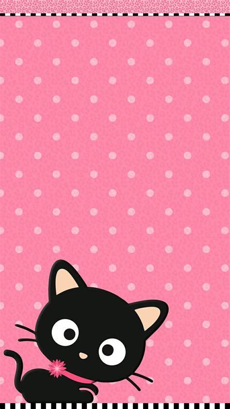 cute pink cat wallpaper   iphone wallpaper