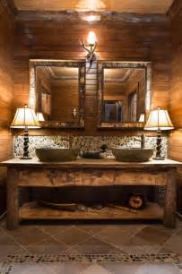 56 Vanity Double Sink Bathroom Rustic Bathroom Minneapolis By Gabberts
