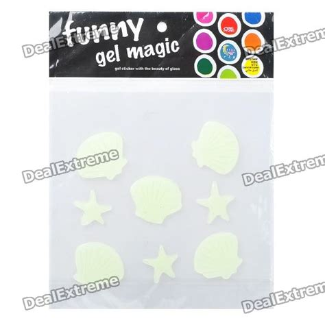 Starfish Squishy Glow In The Squishy By Vlo glow in the soft resin scallop starfish stickers free shipping dealextreme
