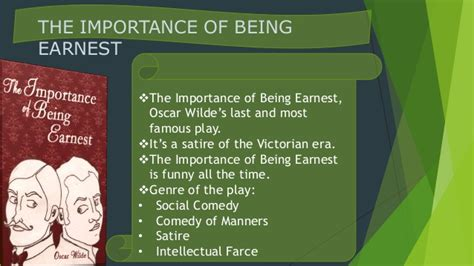 themes the importance of being earnest oscar wilde victorian period the importance of being earnest