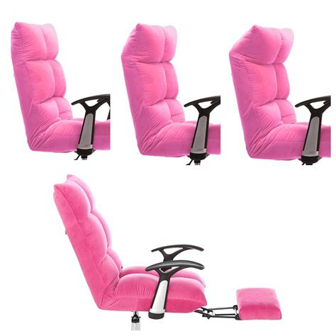 pink chairs tatami computer office desk chair high back adjustable
