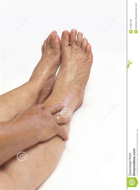 granny foot mature feet stock photo image 15491140