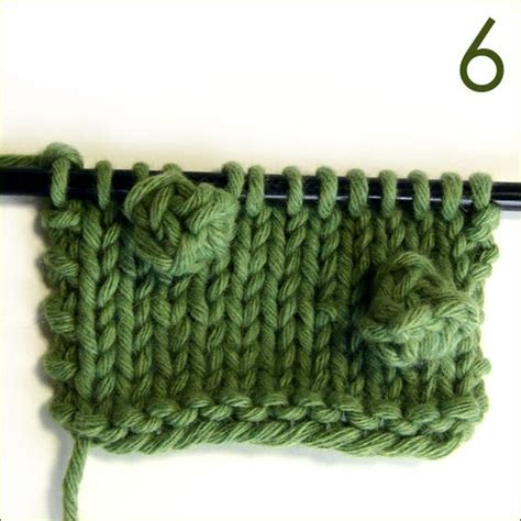 how to knit a bobble stitches yarns and classic on