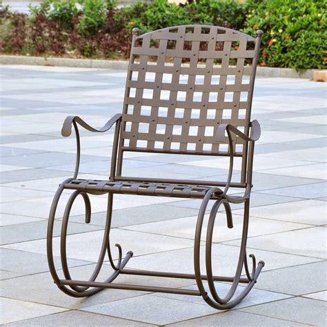 Wrought Iron Patio Rockers - rocking chair outdoor patio wrought iron rocker garden