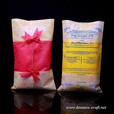 Tissue Motif undangan tempat tissue motif