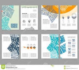 flyer leaflet booklet layout set editable design