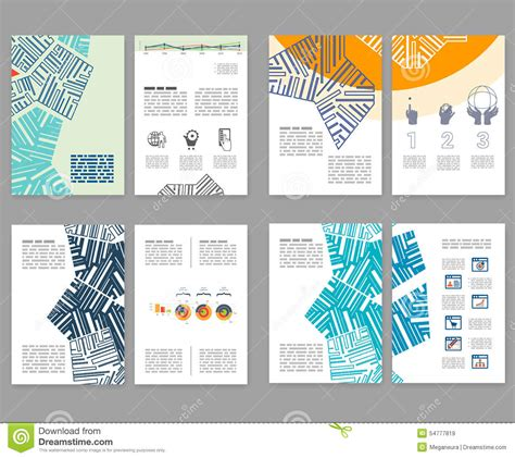 Flyer Leaflet Booklet Layout Set Editable Design Template A4 Stock Vector Image 54777819 Booklet Template Free