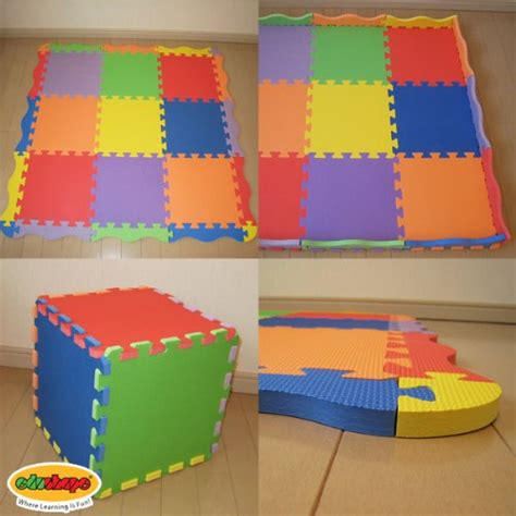 Edushape Play Mat by Edushape Solid Play Mat 25 Count Baby Product In The