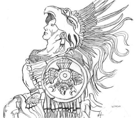 Aztec Warrior By Portugirl On Deviantart Aztec Warrior Sketches