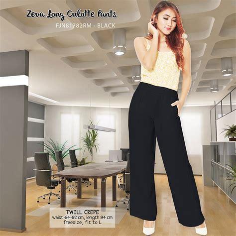 Celana Panjang Kulot Crepe jual culotte celana panjang kulot twill crepe remi house