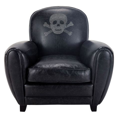 skull armchair skull crossbones armchair in black sparrow maisons du