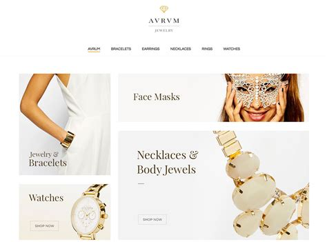 New Fashion Site Notcouture by Simple Jewelry Themes For Fashion And Ecommerce