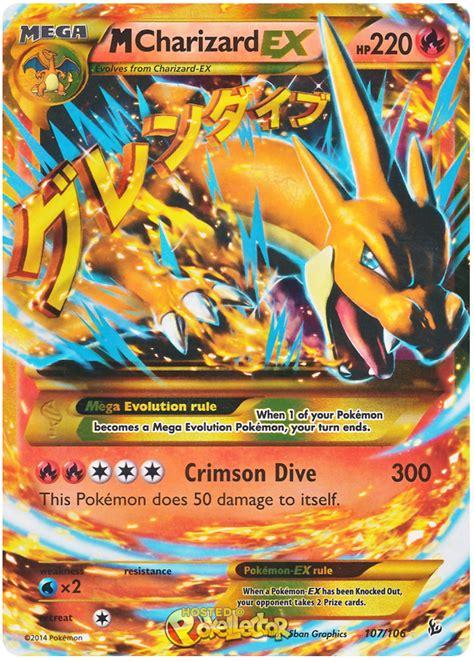 ex m m charizard ex xy flashfire 107 pokemon card