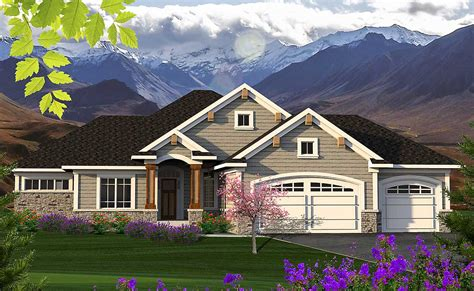 2 bed ranch with craftsman accents 89953ah