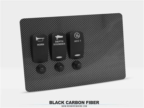 carbon fiber boat switch panel material options custom switch panels new wire marine