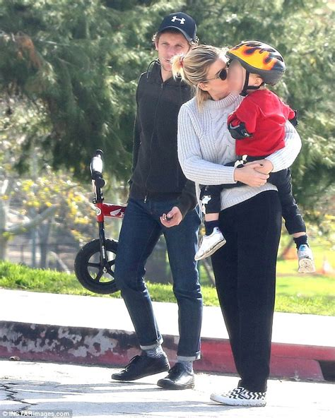 kate mara bonds with jamie bell s son during morning walk