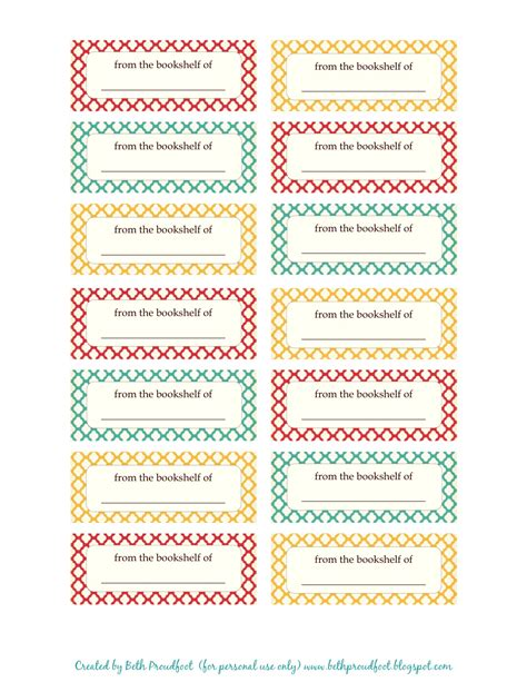 printable label free print book labels the prudent pantry free