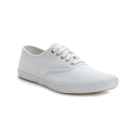 white mens sneakers keds chion canvas original sneakers in white for lyst