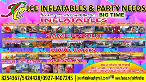 jce inflatables  party  paranaque city philippines phone address
