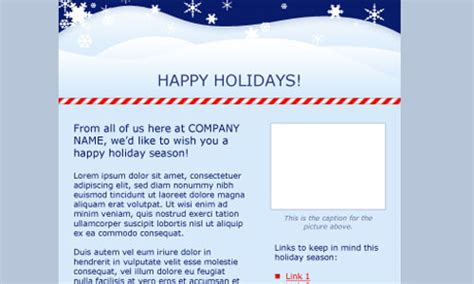 Happy Holidays Email Templates by Free And Premium Html Email Newsletter Templates