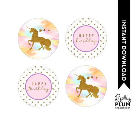 printable unicorn cupcake toppers unicorn cupcake toppers rainbow cupcake toppers magical