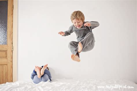 On The Bed by 10 Simple Tips For Photographing Your Child Jumping On The Bed