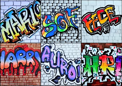 nomi femminili di 5 lettere nome in stile graffiti