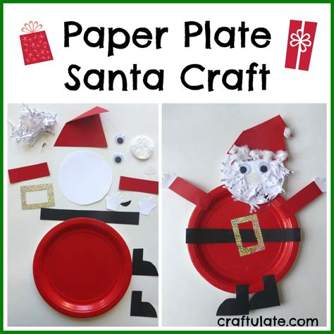 santa paper plate craft paper plate activities search results
