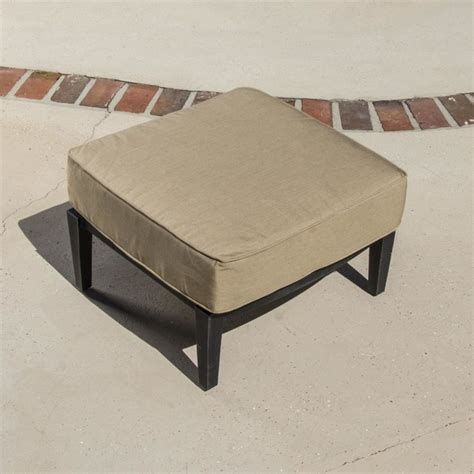Outdoor Patio Footstools by St Charles Cast Aluminum Patio Ottoman Modern Outdoor