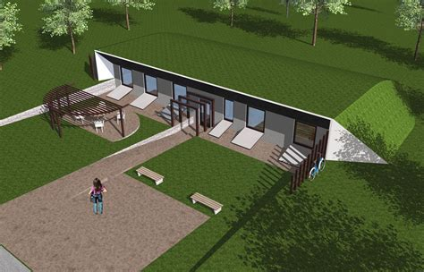 Earth Bermed House Plans by