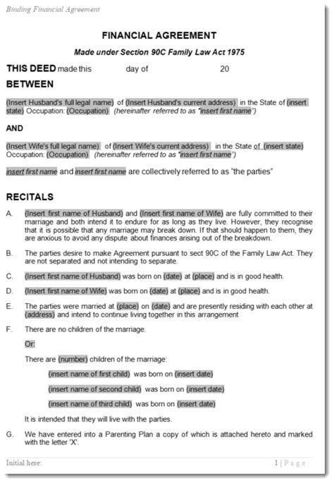 Postnuptial Agreement Template Best Ofity Contract Awesome Pdf Format Post Nuptial After X Cool Post Nuptial Template