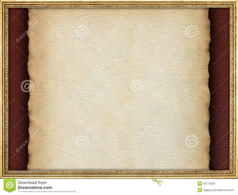 Handmade Paper Frames - handmade paper sheet and picture frame royalty free stock