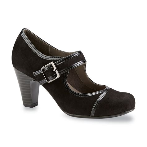 sears comfort shoes i love comfort women s suede chorus black high heel mary jane