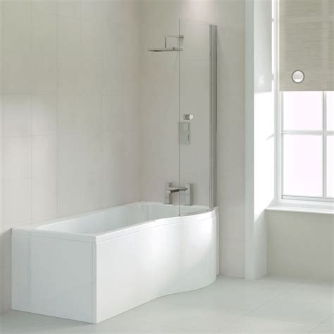 p shaped shower baths ethan 1700 p shaped shower bath right handed buy at bathroom city
