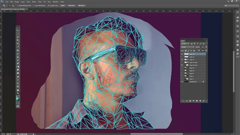 illustrator tutorial digital painting create a low poly portrait digital arts