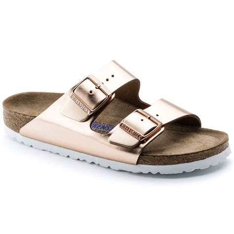 birkenstock arizona soft footbed metallic copper arizona soft footbed metallic copper leather birkenstock