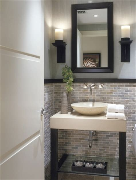 half bathroom designs brick tiles home interiors