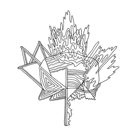 canadian leaf coloring page canadian maple leaf colouring page with abstract drawing