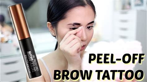 tattoo brow maybelline youtube maybelline tattoo brow gel tint review anna cay youtube