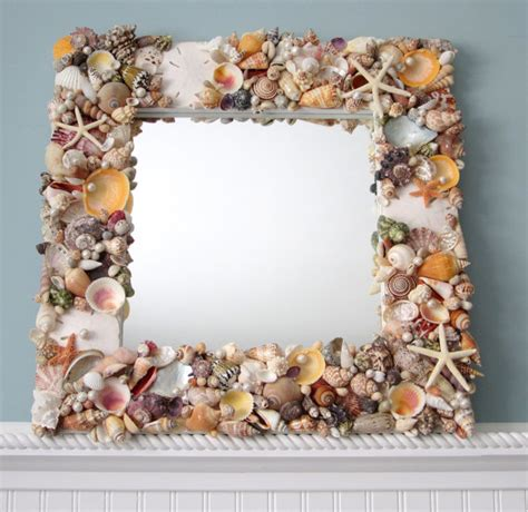 Starfish Home Decor seashell mirror beach decor shell mirror nautical decor
