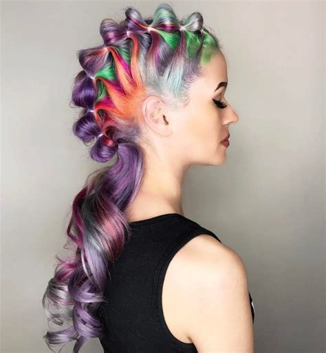 dragon age more hairstyles and vibrant colors unicorn hair trend is a fantastical way to celebrate the