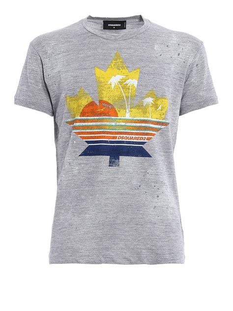 Dsquared2 Printed Cotton T Shirt T Shirts S74gd0165 100 Ikrix by Printed Cotton T Shirt By Dsquared2 T Shirts Ikrix